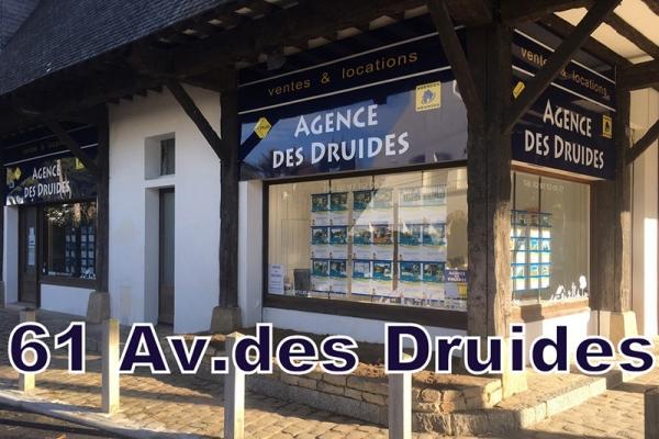 Nouvelle Agence des Druides au 61 Avenue des Druides à CARNAC